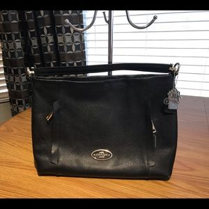 Coach Black Leather Scout ConvertibleCrossbody Bag